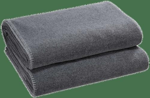 """Wohndecke """"Soft-Fleece"""" in Mittelgrau"""