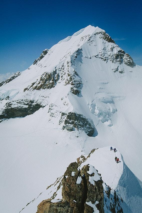Gratig! Luftig! Schön! Beeindruckende Szenen beim Aufstieg.