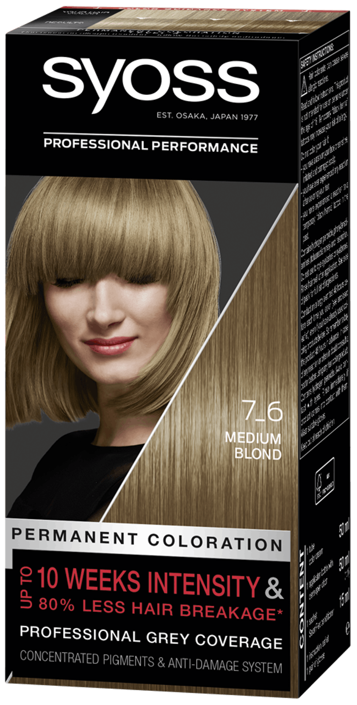 Syoss Permanent Coloration 7_6 Medium Blond