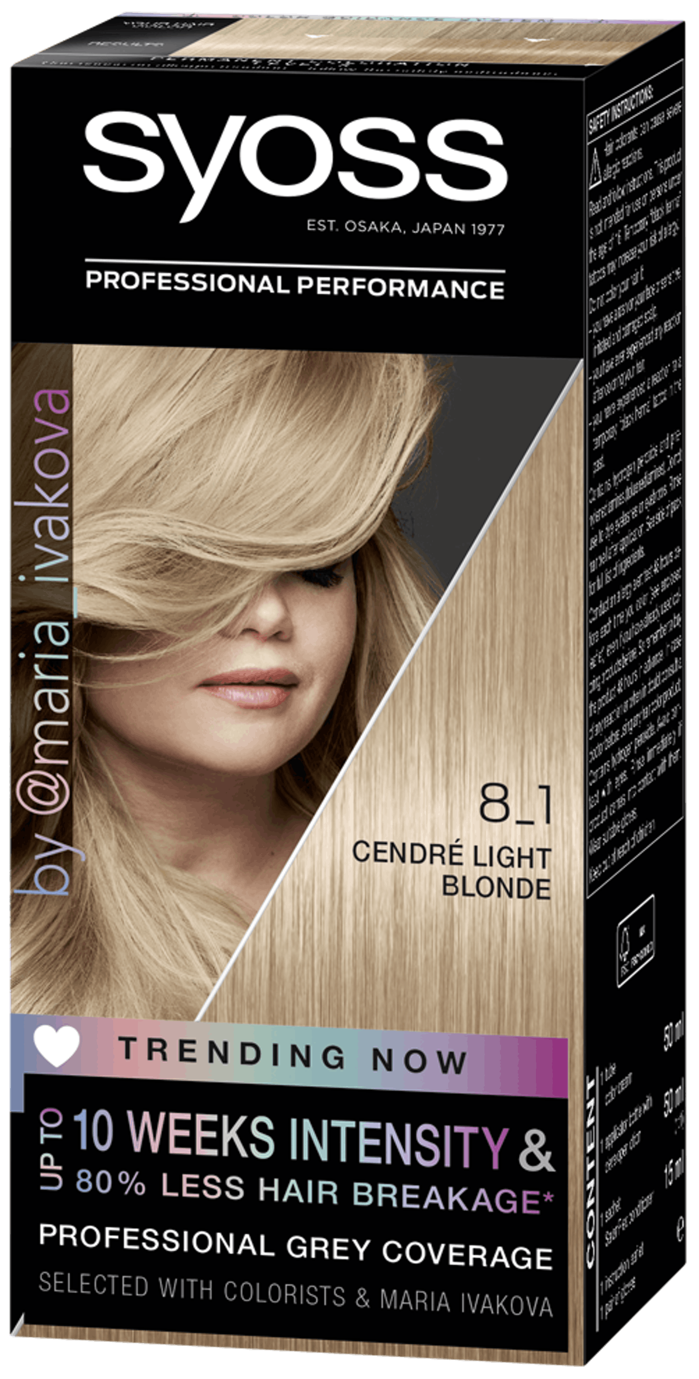 Syoss Permanent Coloration Trending Now 8_1 Cendré Light Blond - Permanent Hair Coloration