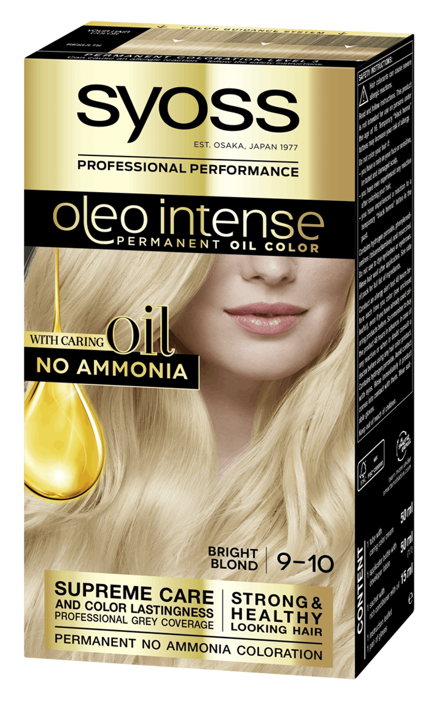 Syoss Oleo Intense Permanent Oil Color 9-10 Bright Blond