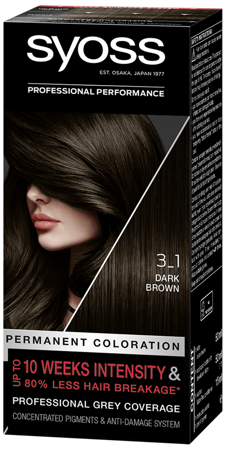 Syoss Permanent Coloration 3_1 Dark Brown