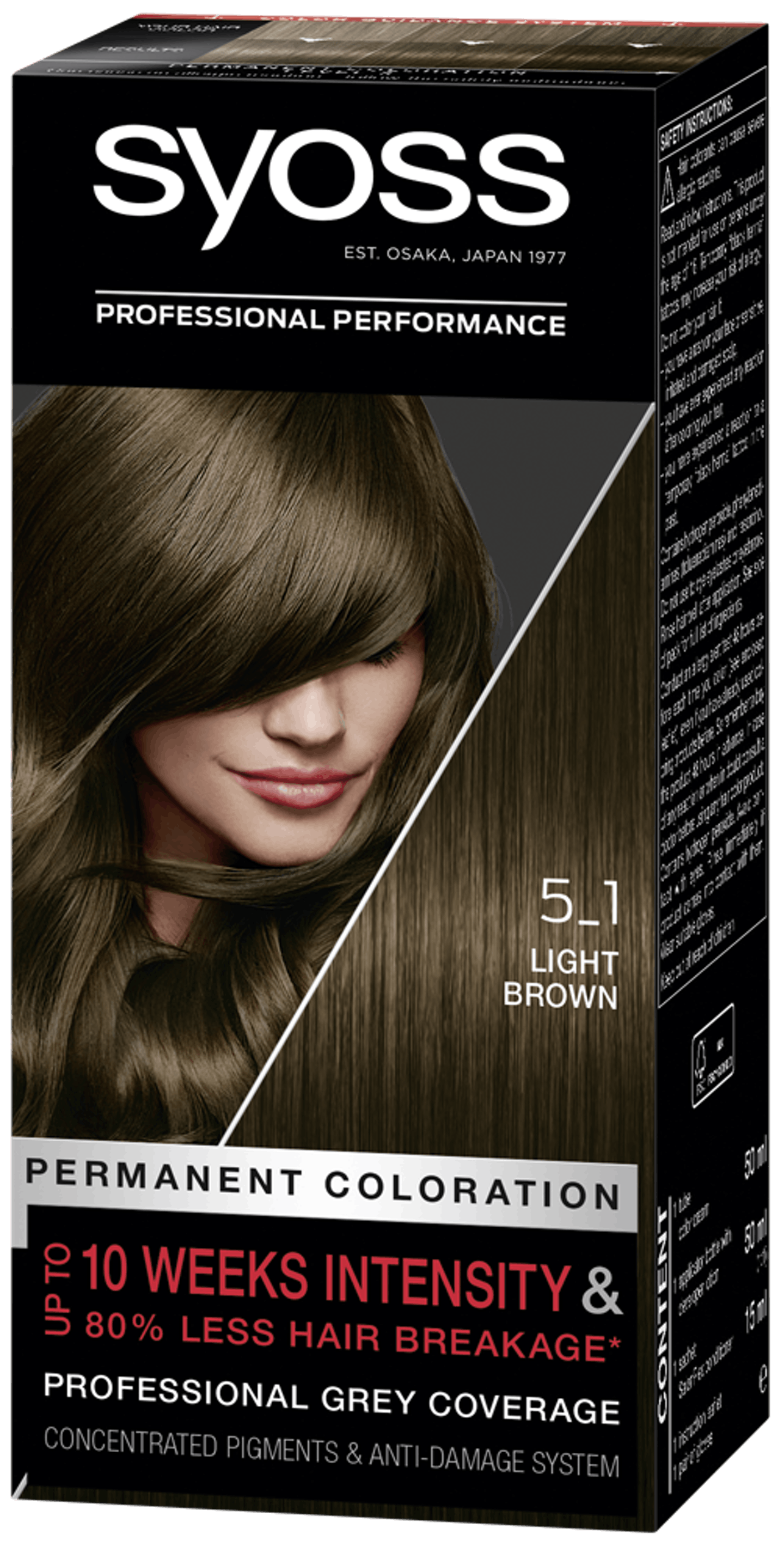 Syoss Permanent Coloration 5_1 Light Brown