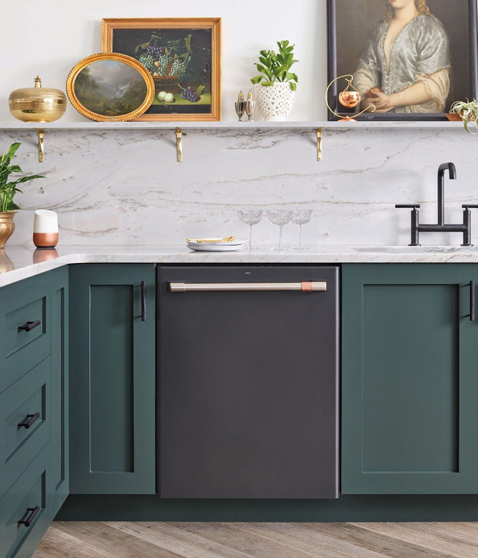 Matte Black dishwasher in kitchen