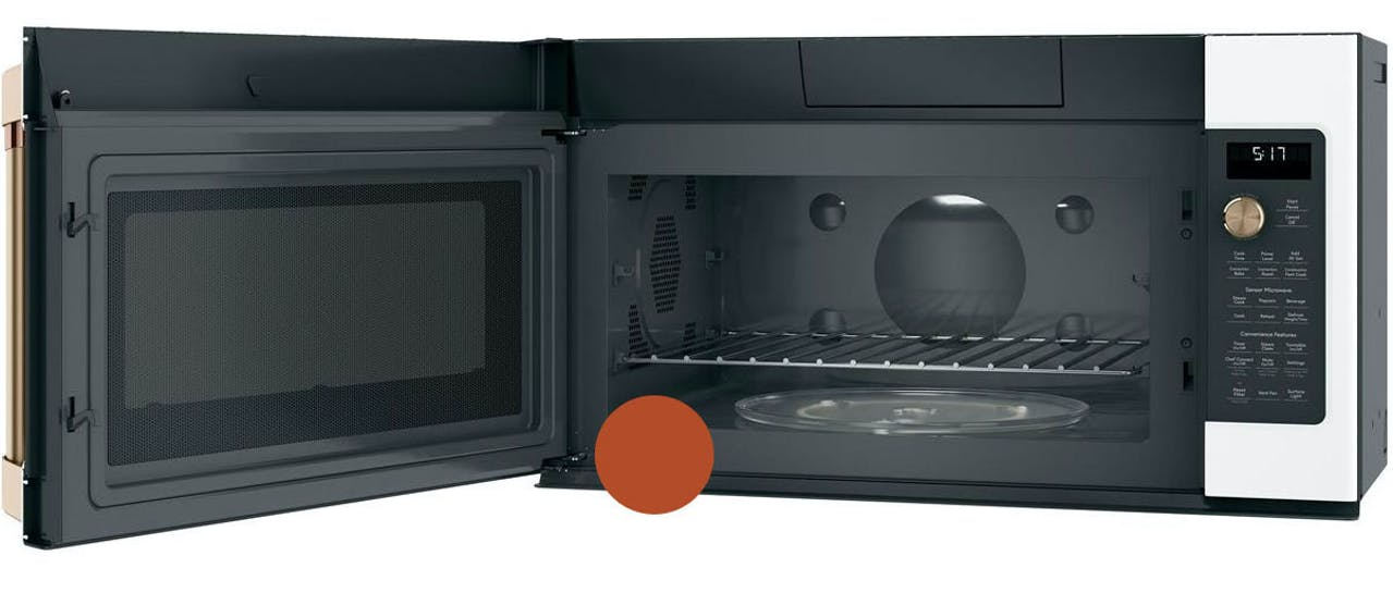 Possible model / serial locations on Cafe microwave