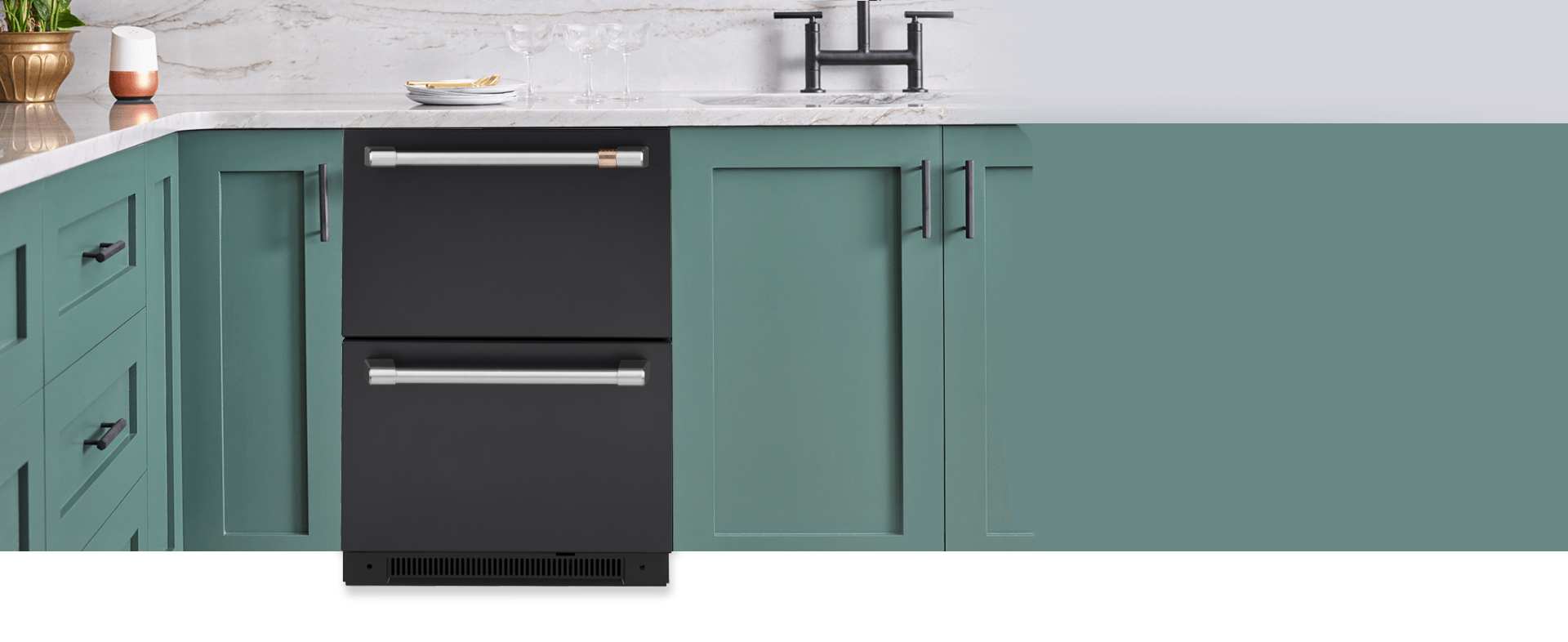 Dual Drawer Refrigerators With Customizable Hardware Cafe