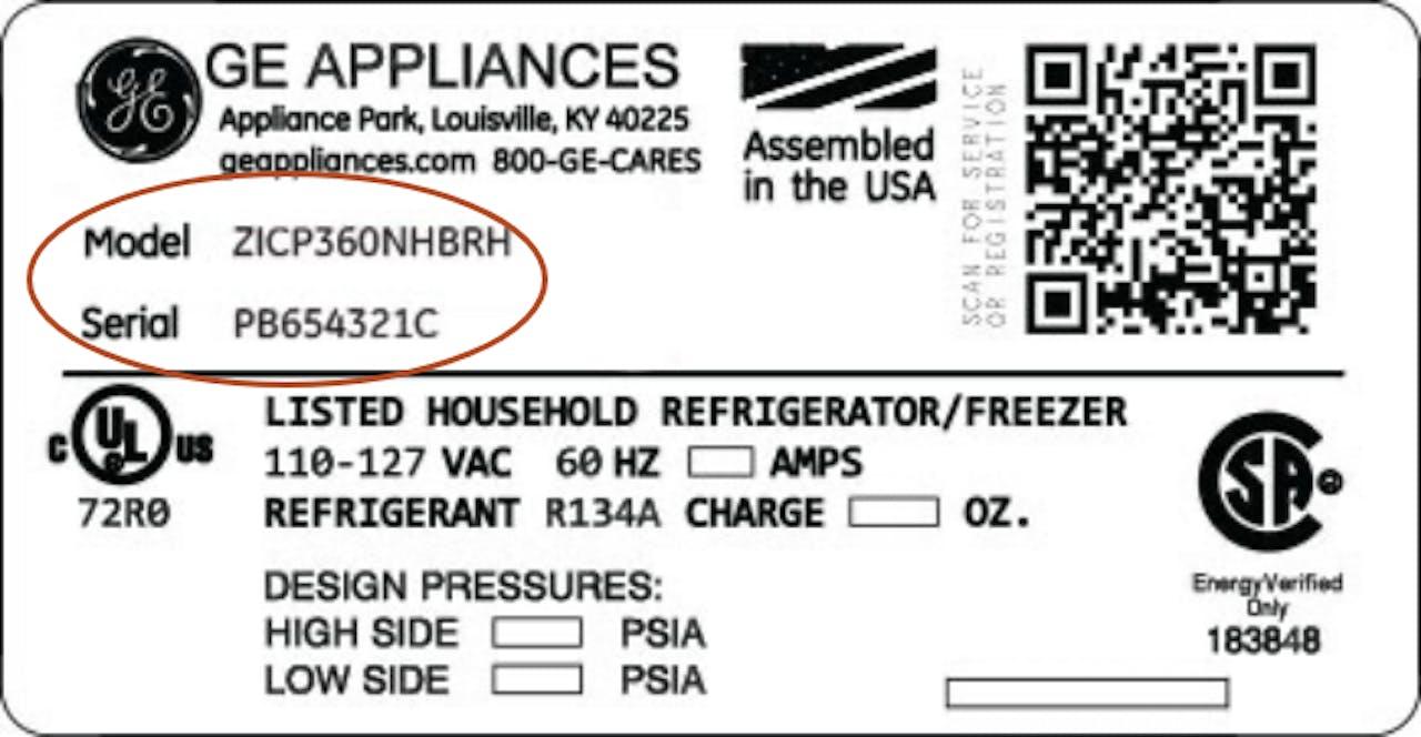 Example model / serial plate