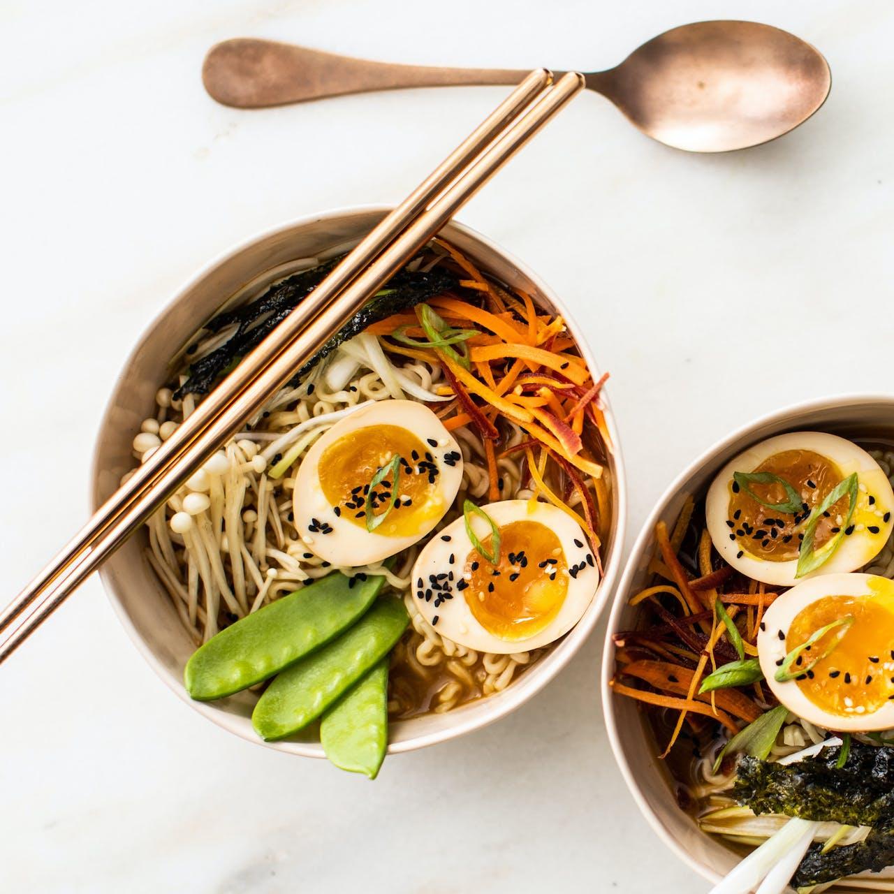 Simple Miso Ramen bowls