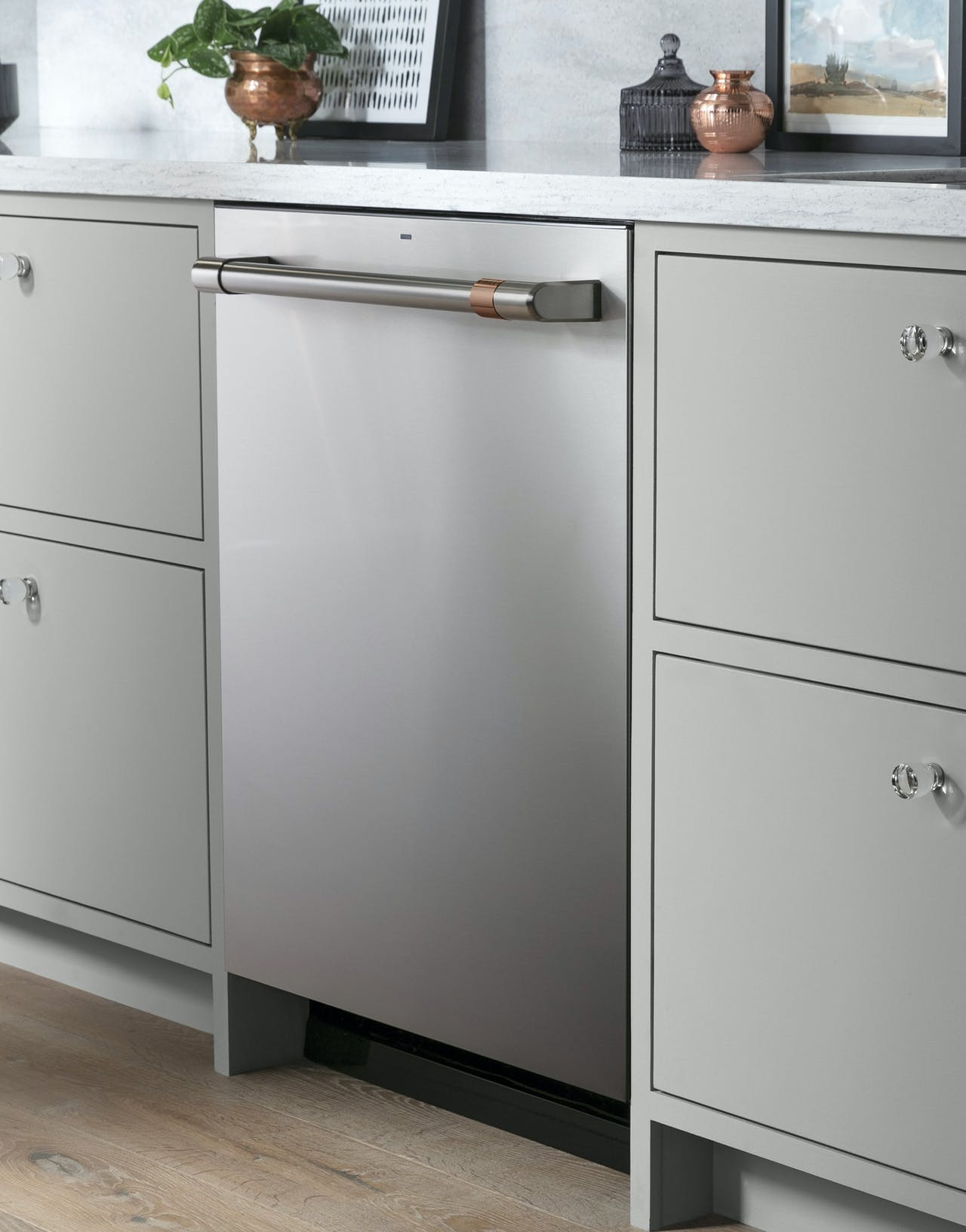 stainless dishwasher with brushed stainless hardware