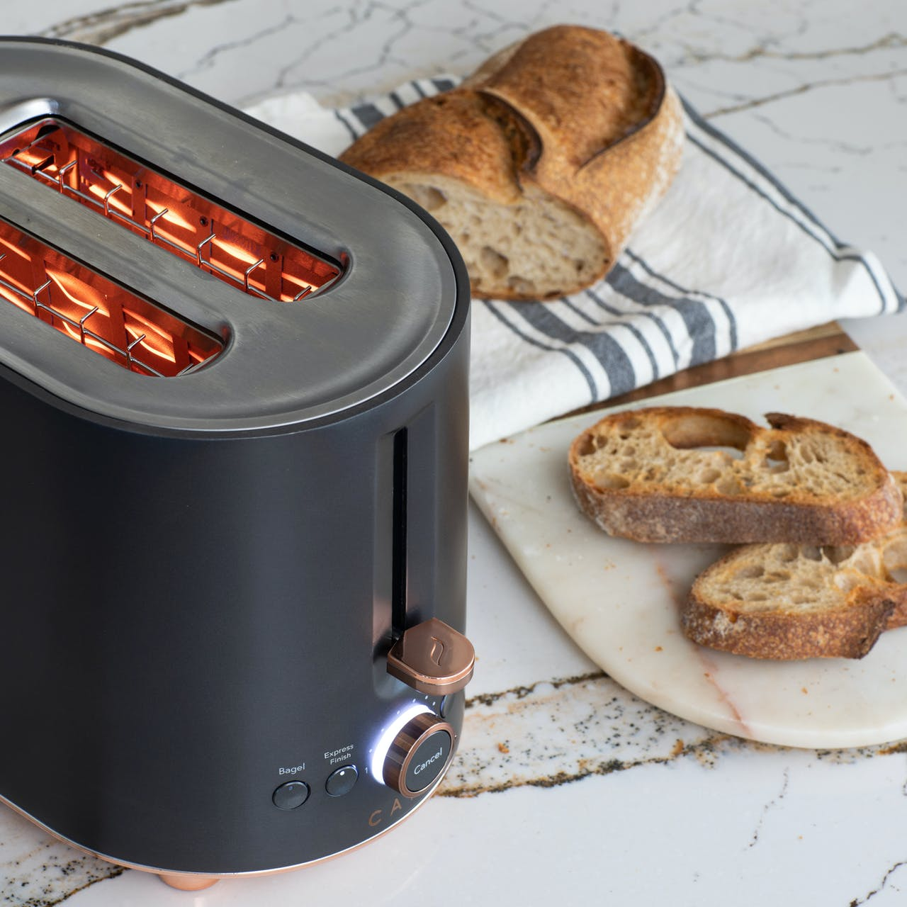 express finish mode on café toaster