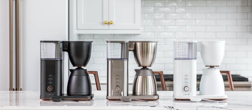 café coffee makers in matte black, stainless and matte white