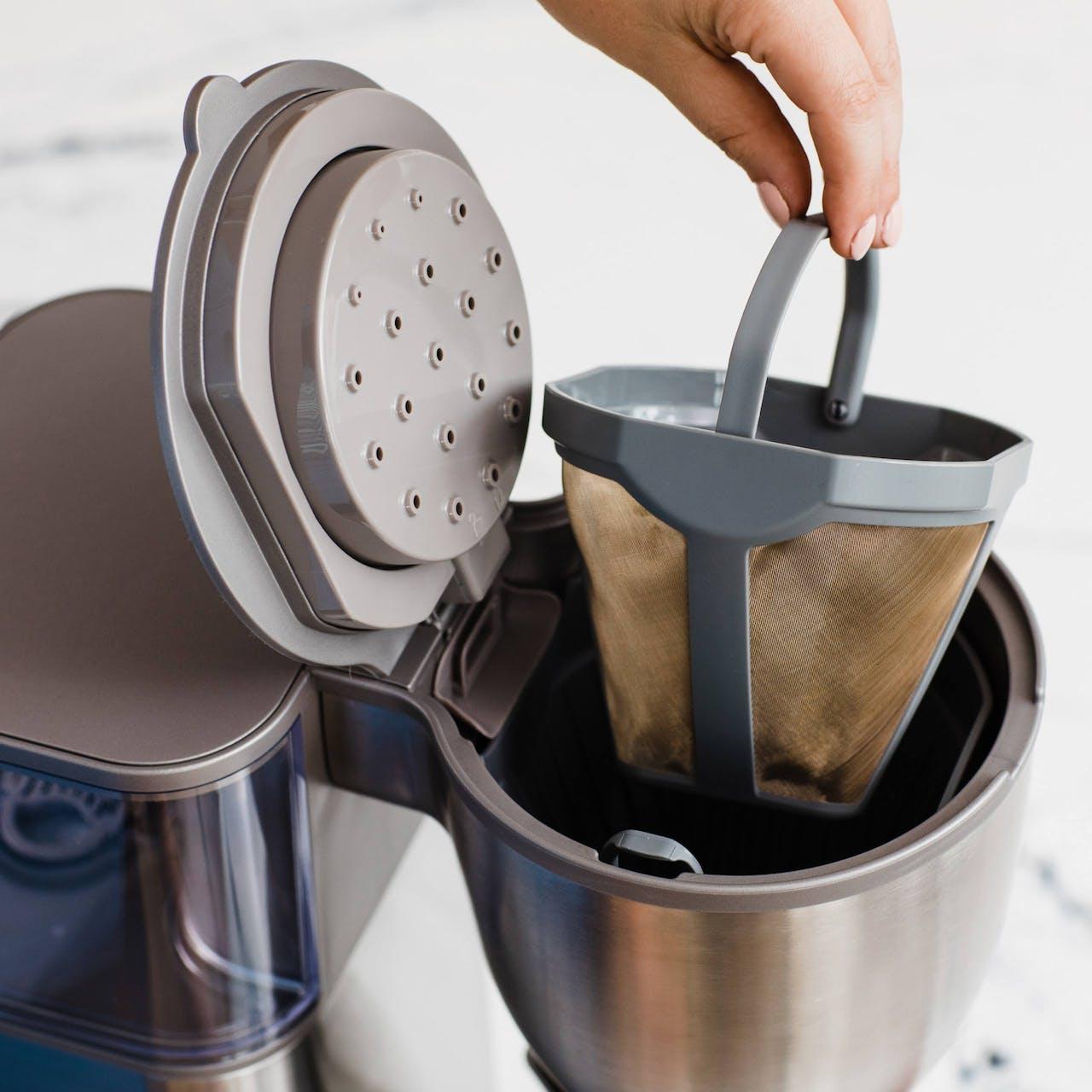 reusable gold mesh filter for café coffee maker