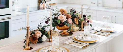 Place settings for holiday meal
