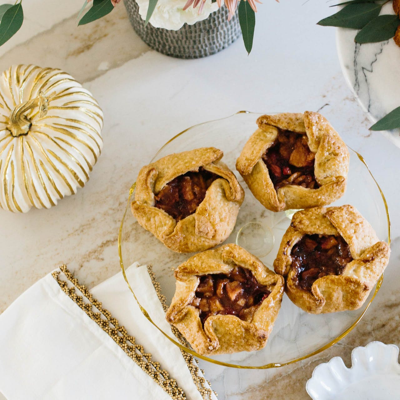 cranberry pear galettes