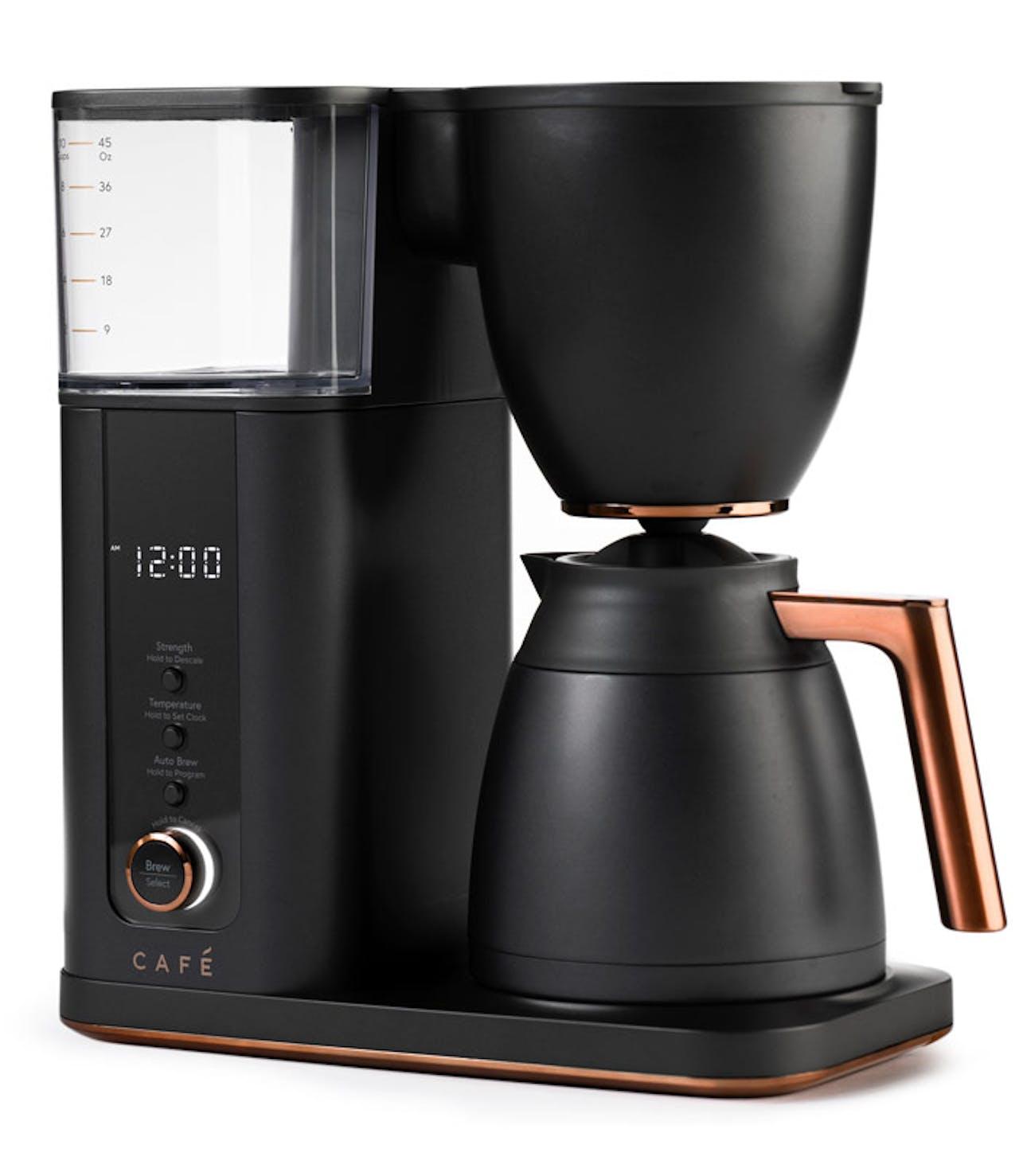 café specialty drip coffee maker in matte black