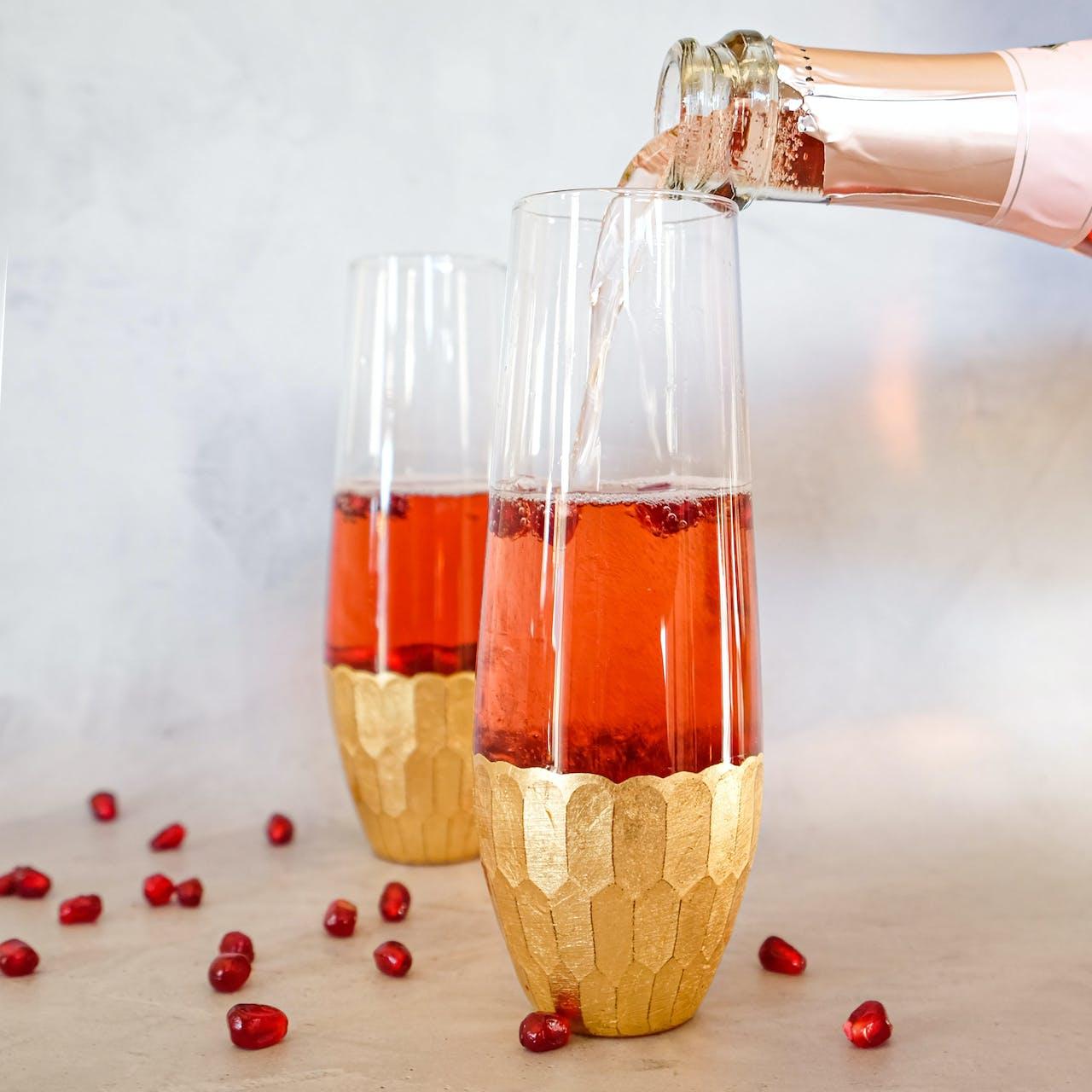 Pomegranate Elderflower Spritzer
