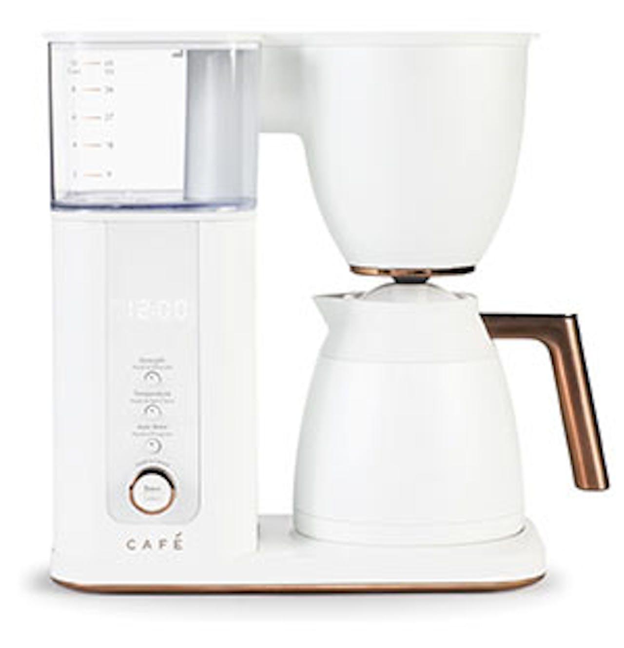 Matte White Coffee Maker