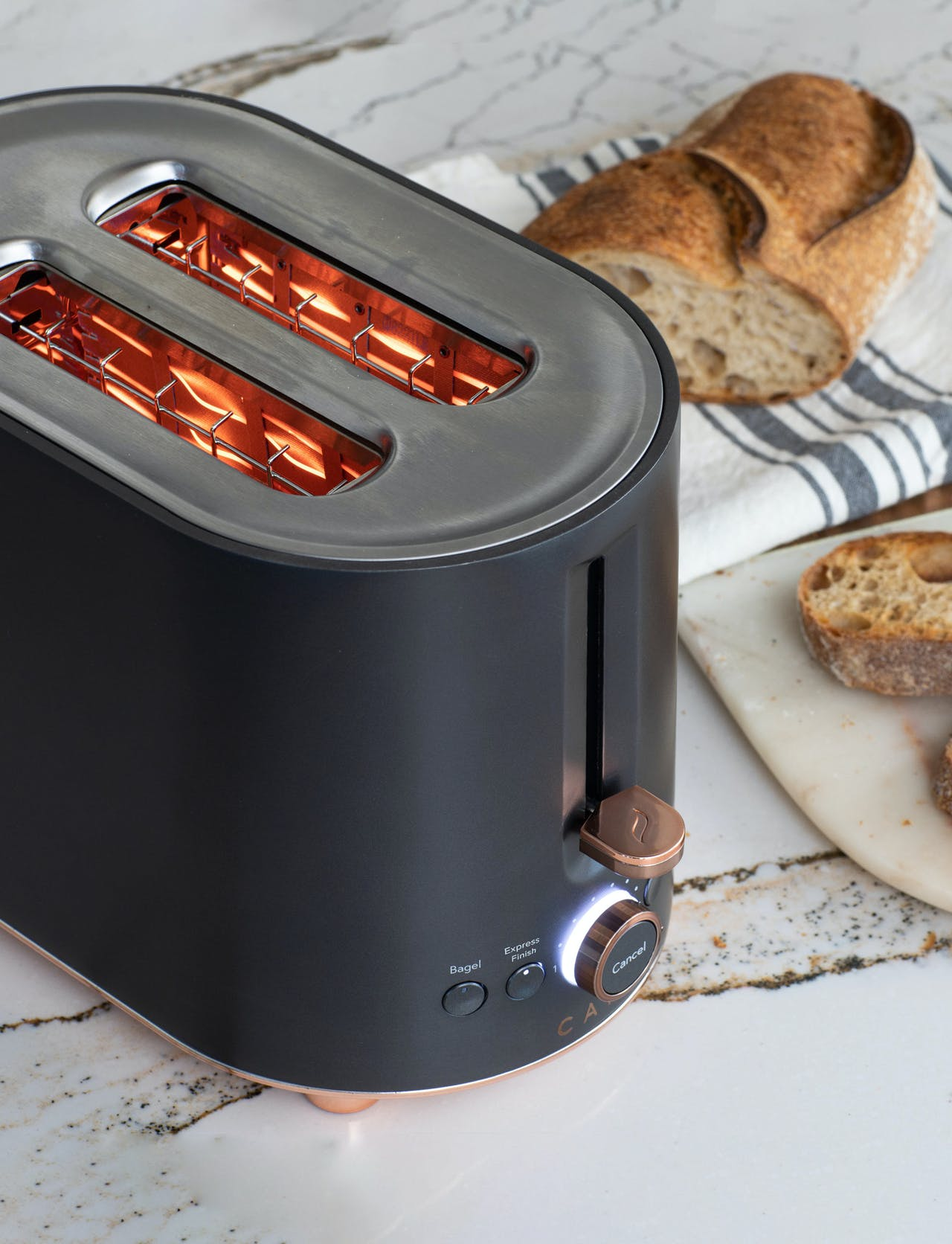 cafe toaster in express finish mode
