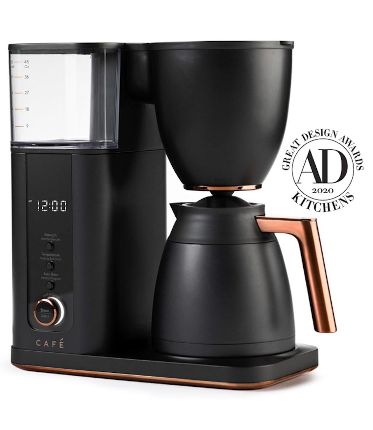 cafe matte black coffee maker winner of Architectural Digest Great Design Award 2020