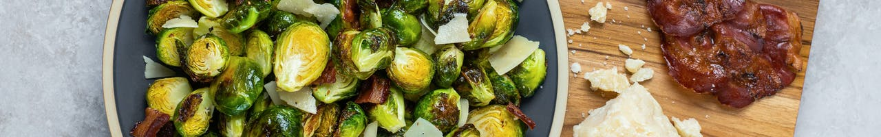 Air Fried Brussels Sprouts with Crispy Pancetta