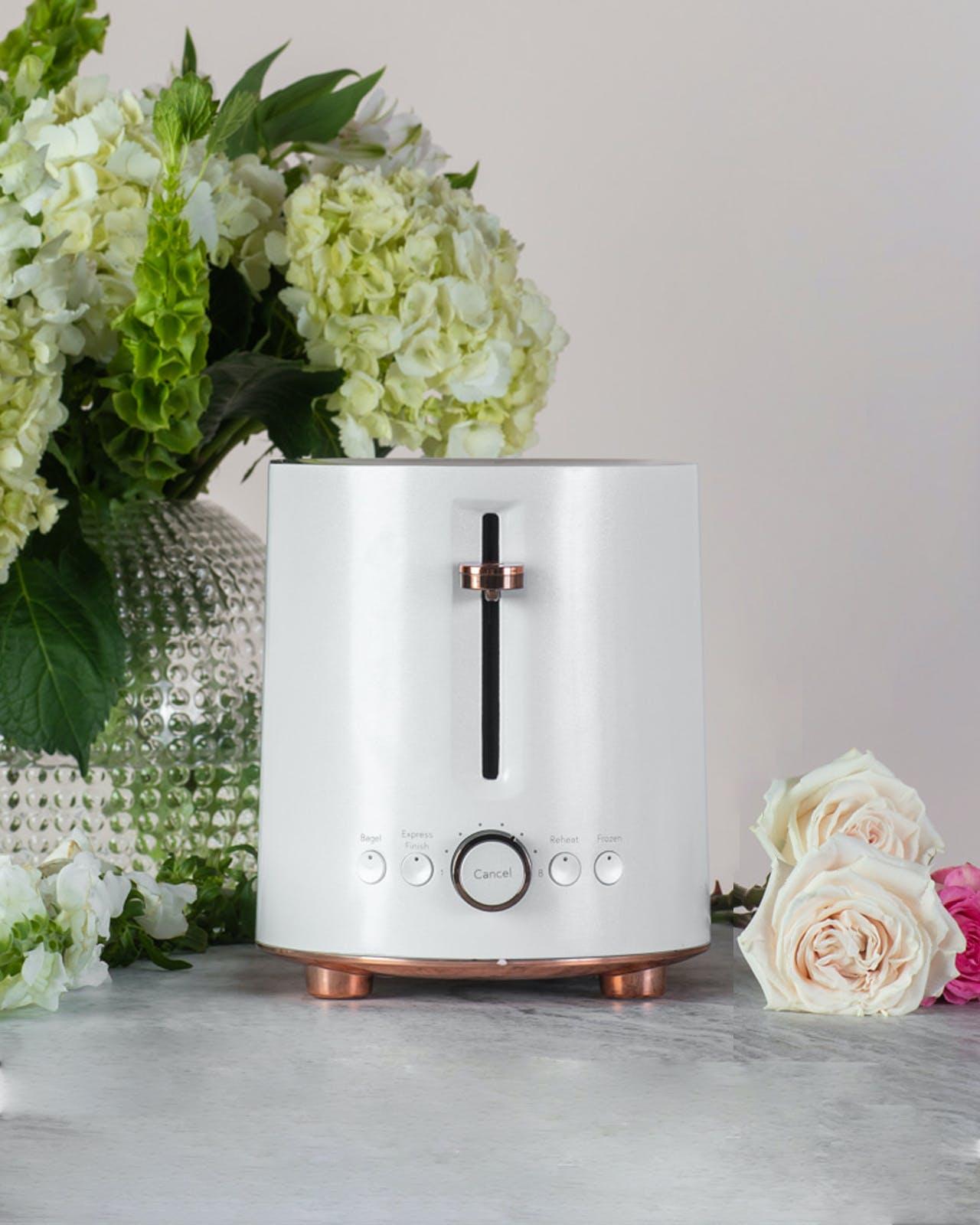 cafe matte white toaster