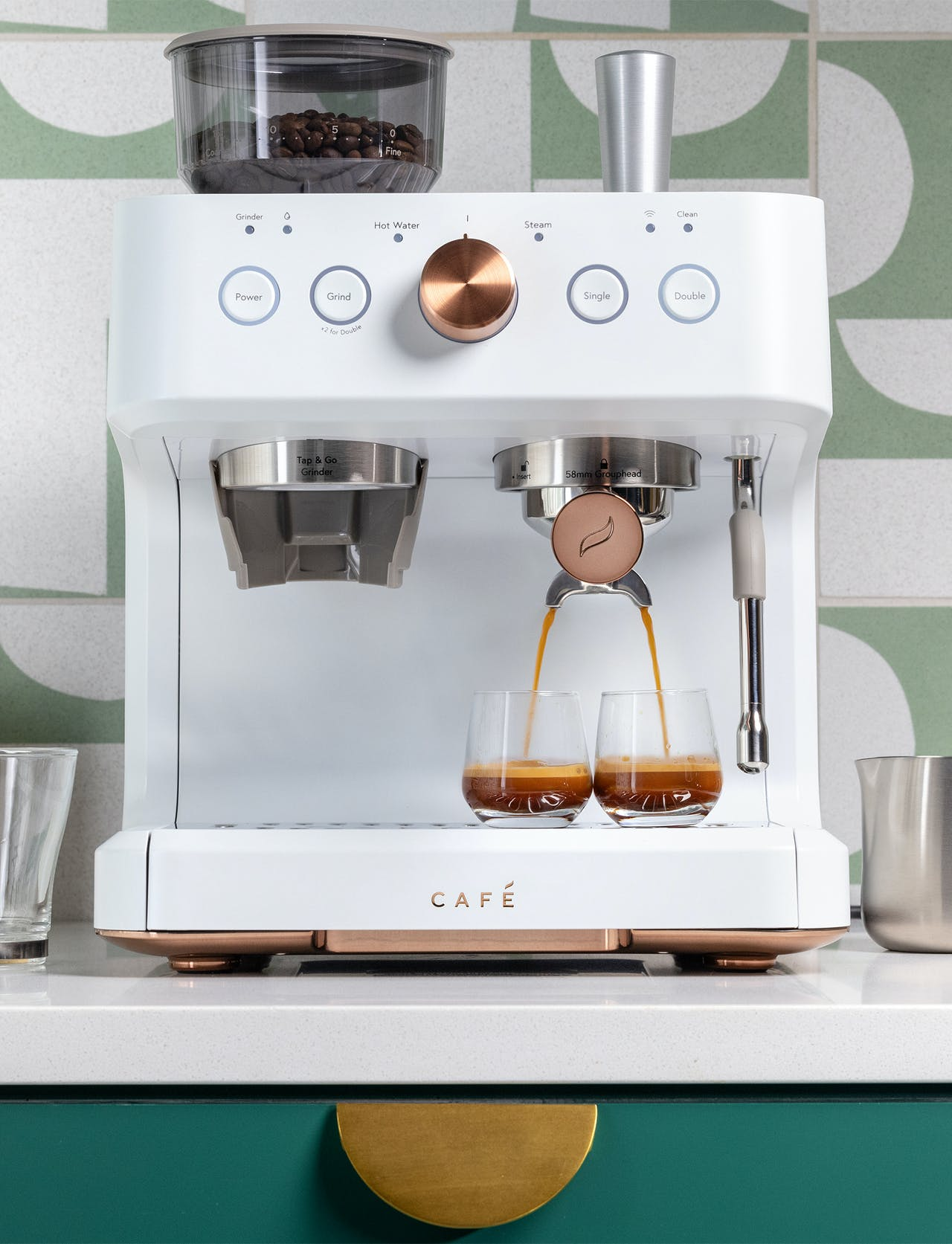 Café Matte White Bellisimo Semi-Automatic Espresso Machine