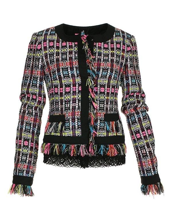 Kurzjacke im Couture-Stil mit modischen Effekten