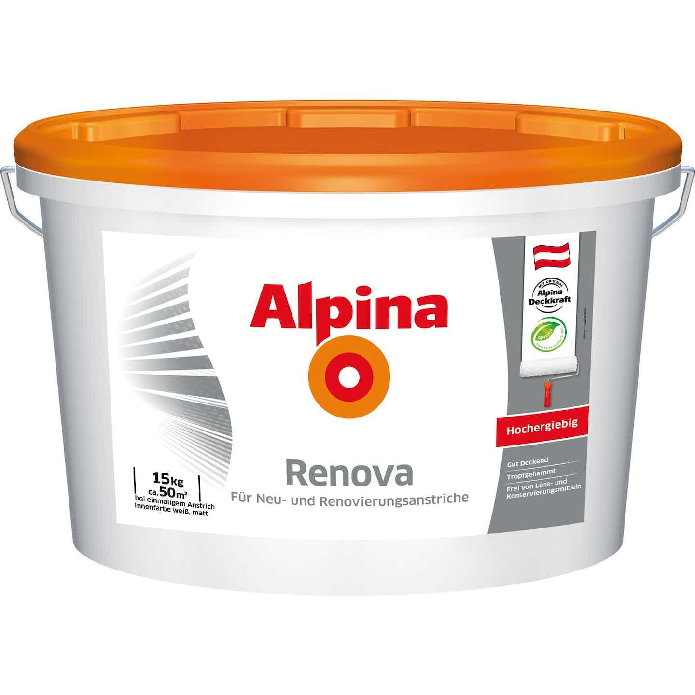 Alpina Innenfarbe Renova Weiß matt 15 kg