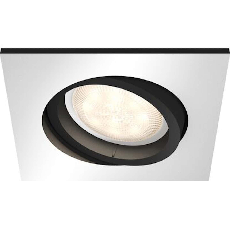 Philips Hue LED-Einbauspot Milliskin inkl. Dimmschalter rechteckig Silber EEK: A