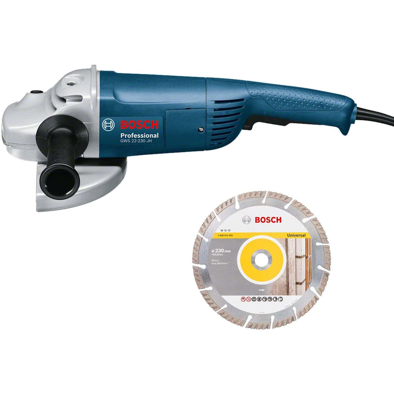 Bosch Professional Winkelschleifer GWS 22-230 JH mit 2.200 W