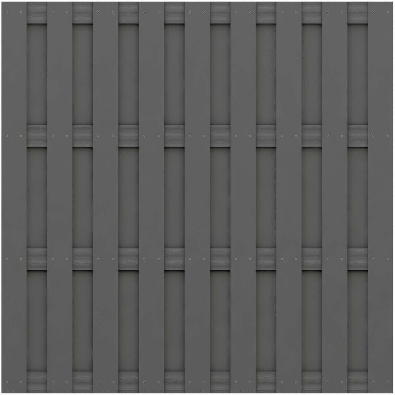 Sichtschutzzaun Element Jumbo WPC Anthrazit 179 cm x 179 cm