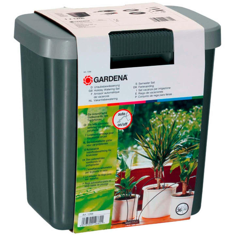Gardena Urlaubsbewässerungs-Set mit Vorratsbehälter für bis zu 36 Topfpflanzen