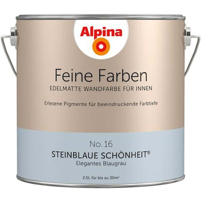 Alpina Feine Farben  No. 16: Steinblaue Schönheit edelmatt 2,5 Liter