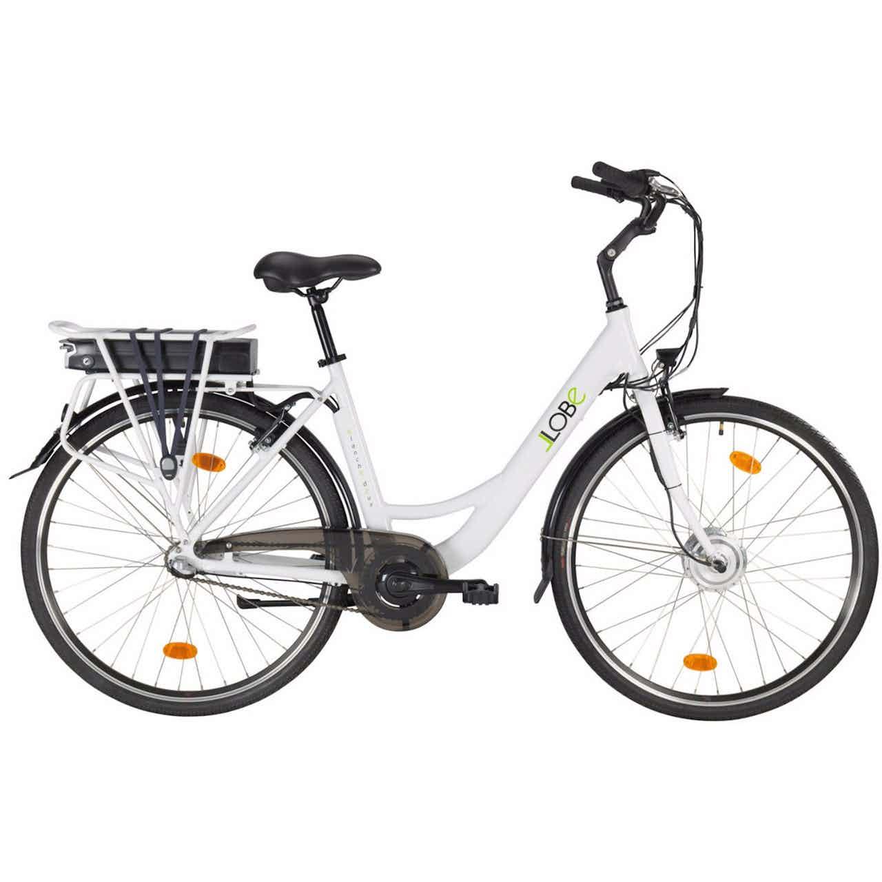 "Llobe E-Bike Damen City-Rad 28"" Blanche Deux Weiß"