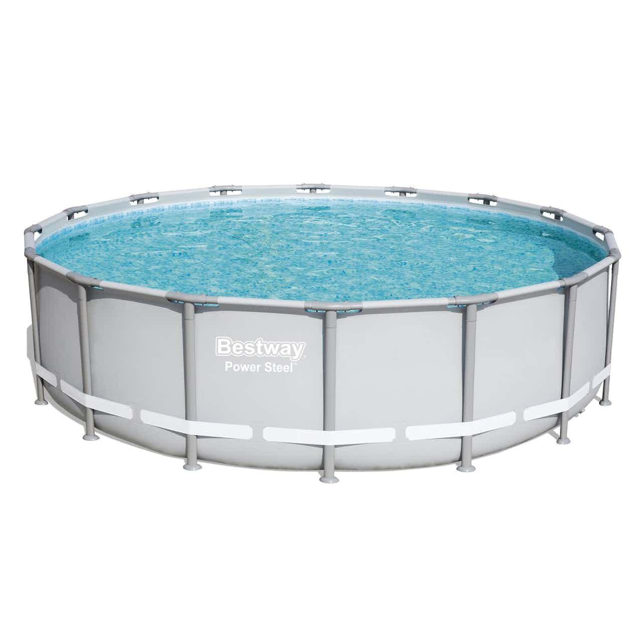 Bestway Stahlrahmen-Pool Set Ø 488 cm x 122 cm
