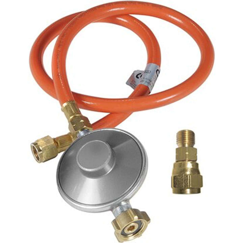 Outdoorchef Gasdruckregler mit Schlauch und Adapter 50 mbar