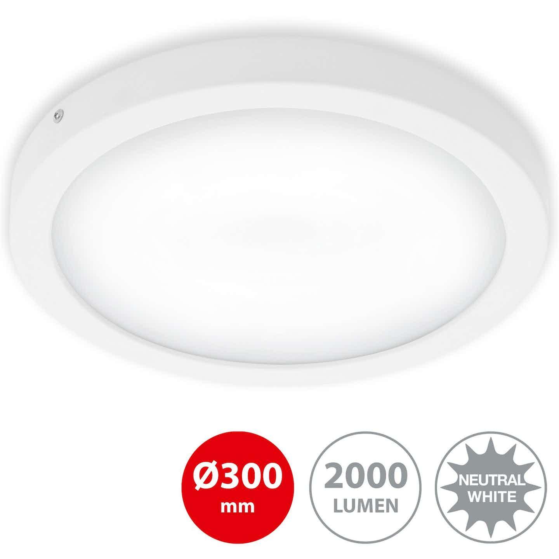 Briloner LED-Decken-& Wandlampe Fire Weiß Ø 30 cm EEK: A-A++