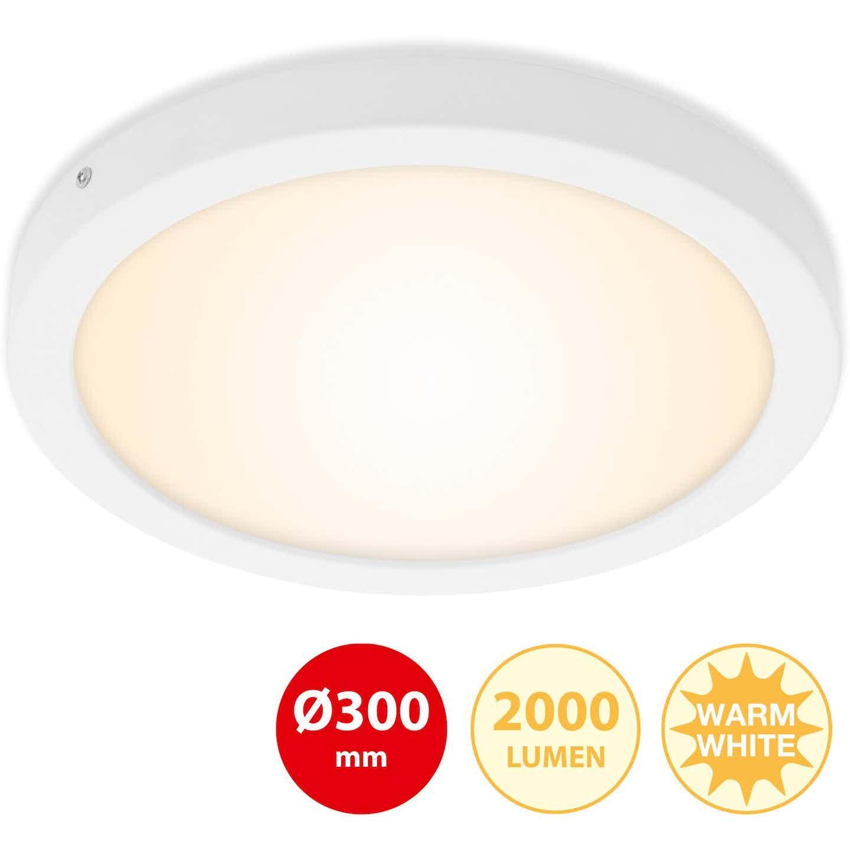 Briloner LED-Decken- & Wandlampe Fire Weiß 21 W EEK: A-A++