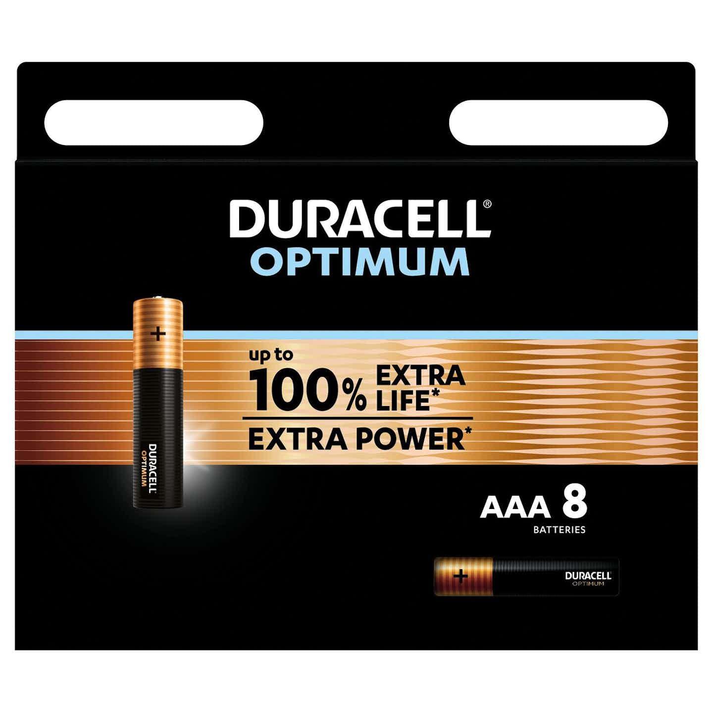 Duracell Optimum Batterien AAA Micro, 8 Stück