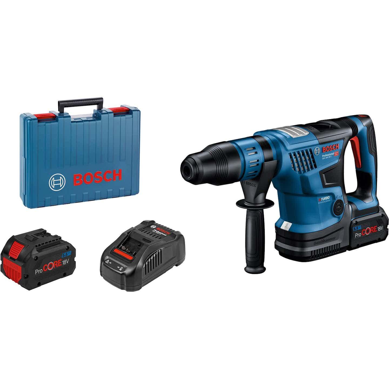 Bosch Professional Akku-Bohrhammer GBH 18V-36 mit 2x 5,5 Ah ProCore