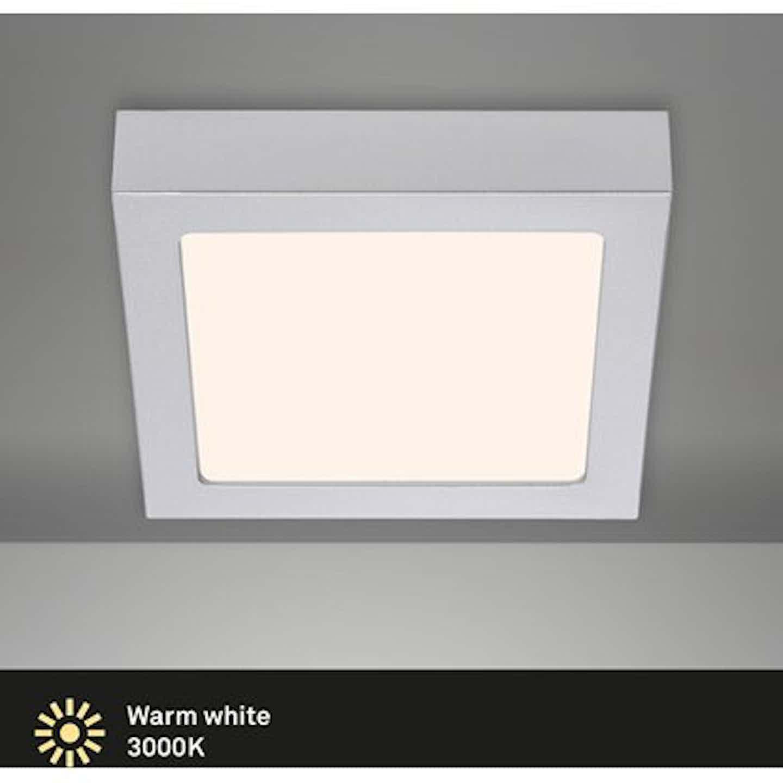 Briloner LED-Decken-& Wandlampe Fire Chrom Matt 12 W EEK: A-A++