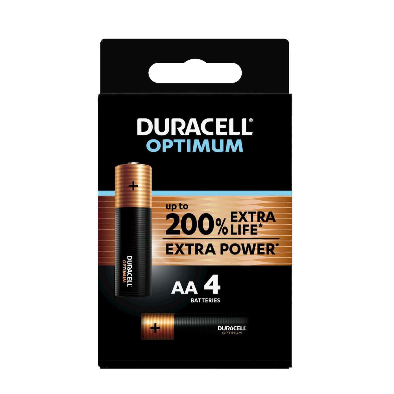 Duracell Optimum Batterien AA Mignon, 4 Stück