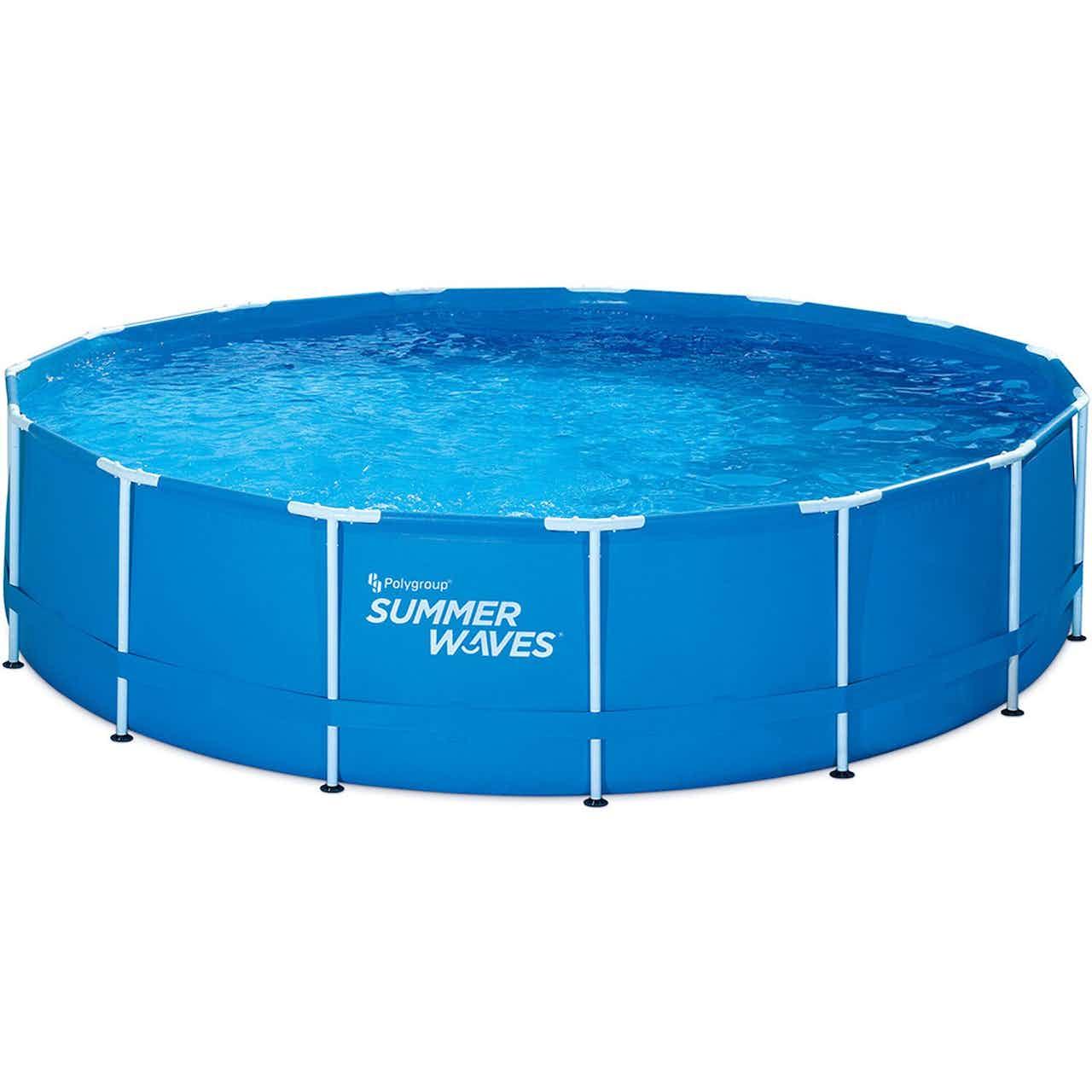Summer Waves Active Frame Pool Blau-Weiß 244x76 cm