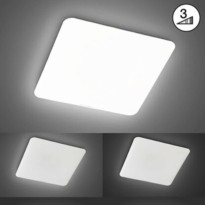 Fischer & Honsel LED-Deckenleuchte Aldo Weiß 53 cm x 53 cm