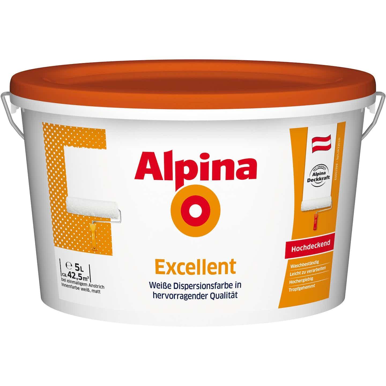 Alpina Excellent Weiß matt 5 l