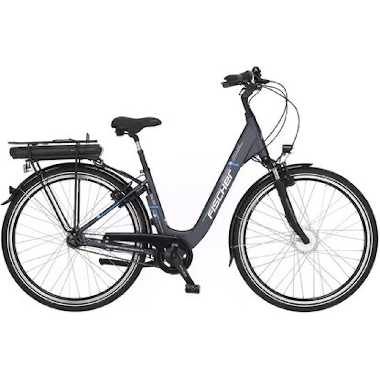 """Fischer E-Bike Damen City-Fahrrad 28"""" ECU 1401-S1 inkl. Pumpe, Tasche, Schloss"""