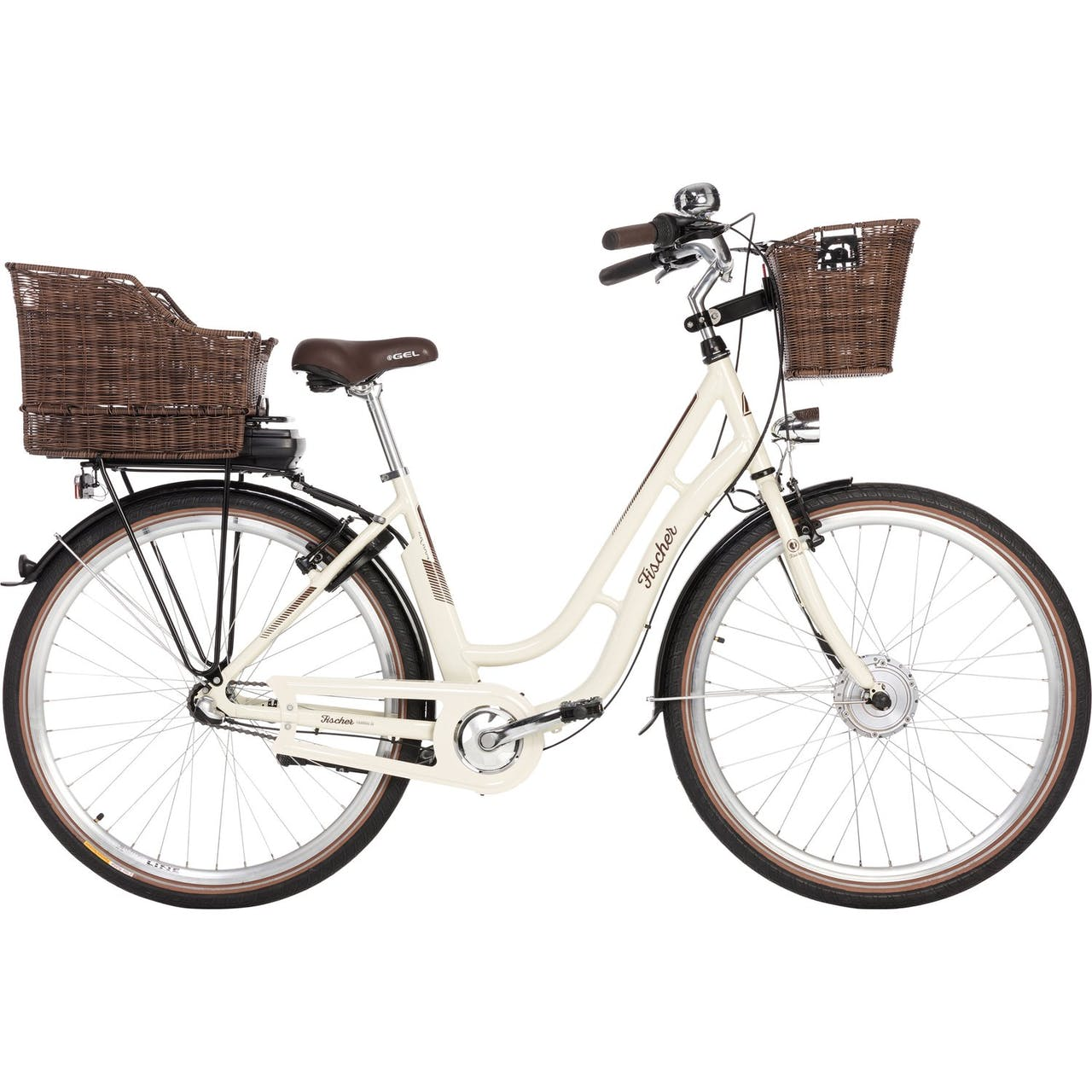 "Fischer E-Bike Damen City-Fahrrad 28"" Retro ER 1804-S1"