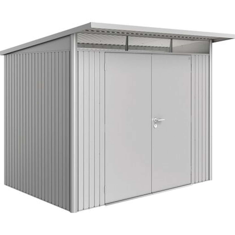 Biohort Gerätehaus AvantGarde Silber-Metallic A5 260 cm x 220 cm mit Doppeltür