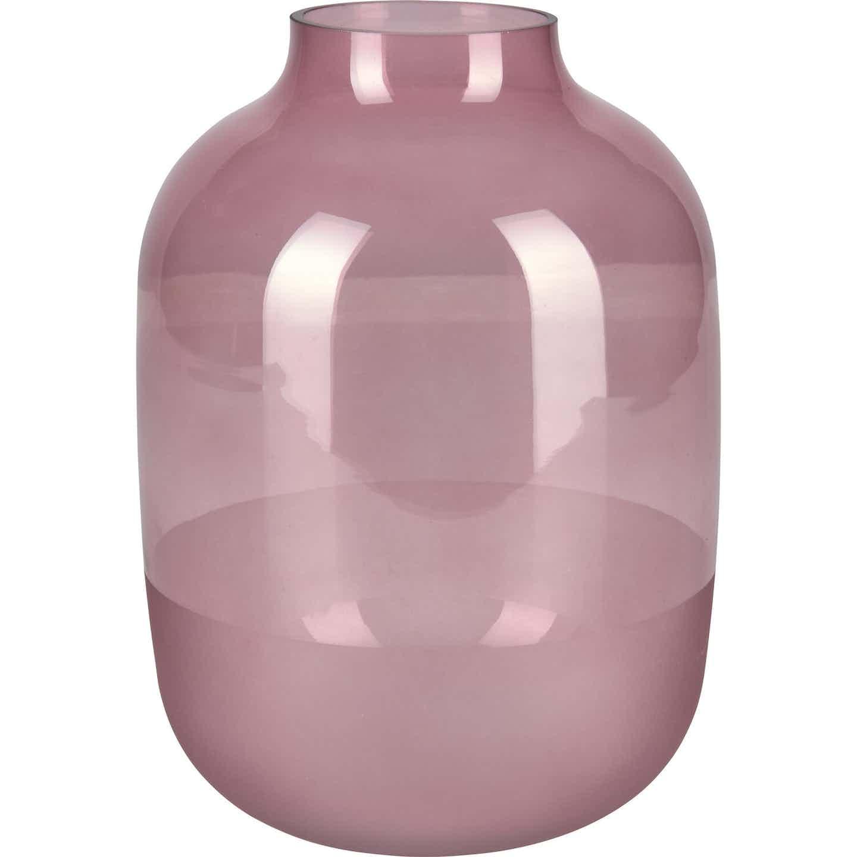 Vase Blush Bordeaux Glas 25,5 cm x Ø 18 cm Burgunderrot