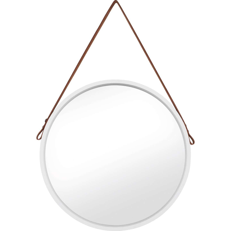 Spiegel rund  Ø 50 cm Weiß